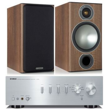 YAMAHA AS501SI+Monitor Audio Bronze 2 Walnut Conjunto Audio