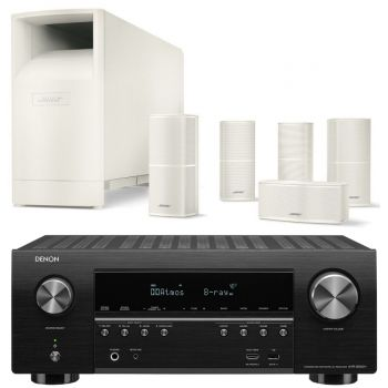 Denon AVR-S950+Bose AM10V White Cinema Pack 5.1 Conjunto AV