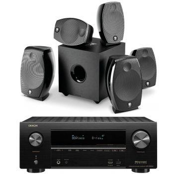 Denon Equipo AV AVR-X2600+FOCAL SIB EVO Dolby Athmos 5.1.2+ 3 soportes Pared