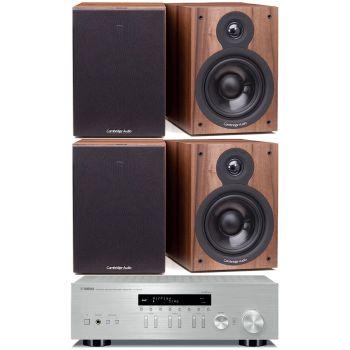 Yamaha RN-303D Silver+2 Cambridge Audio SX50 Walnut Conjunto Sonido