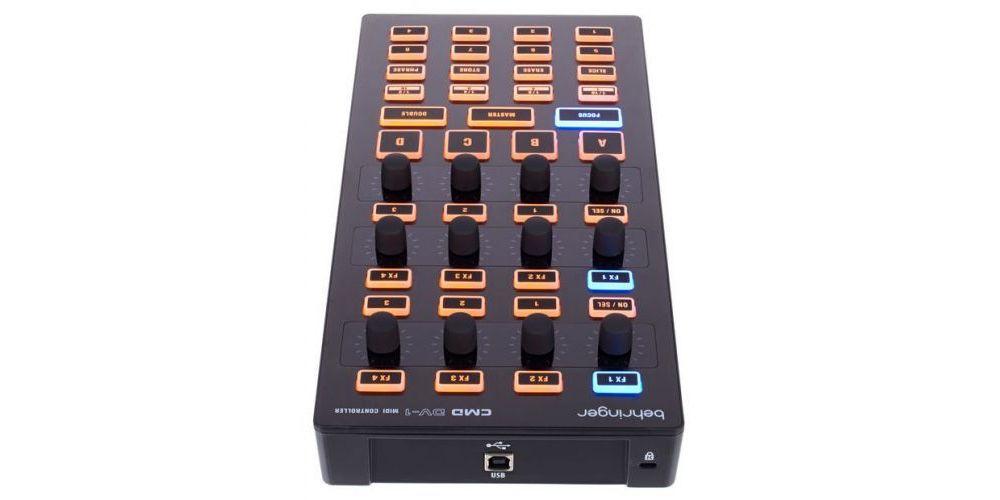 behringer cmd dv1 controlador dj conexiones