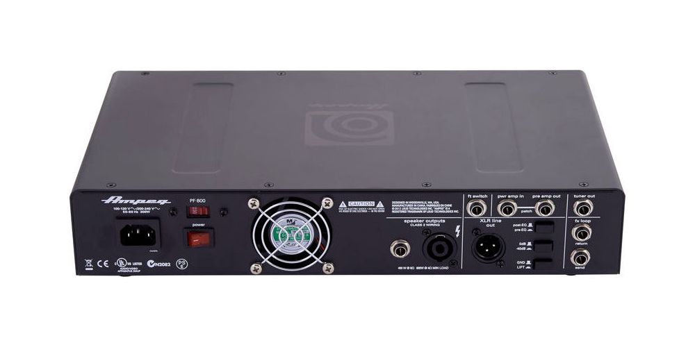 ampeg pf 800 mosfet preamp back