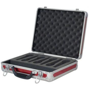 dap audio case for 7 microphones d7304r open