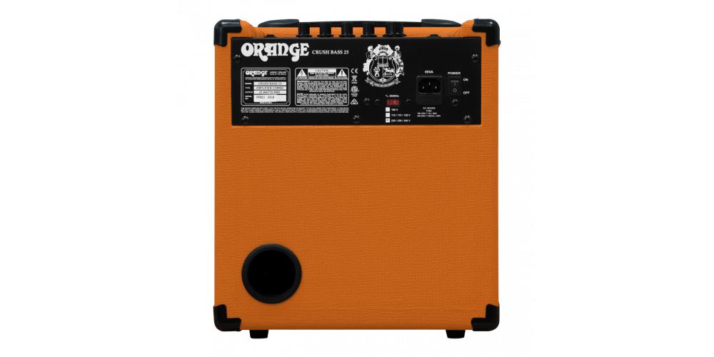 Orange Crush Bass back