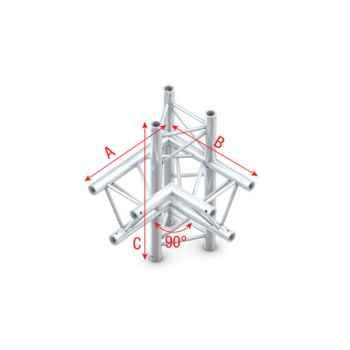 Showtec Corner 90 up-down left Cruce Triangular 4 Direcciones FT30015
