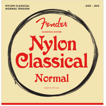 Fender Nylon Acoustic Cuerdas 100 Clear/Silver Calibre.028-.043,