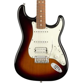 Fender Player Stratocaster PF HSS 3 Tone Sunburst Guitarra Eléctrica