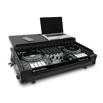 Audibax PRO-1000 Maleta Flight Case para Pioneer DDJ-1000 con Laptop y Ruedas