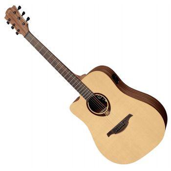 LAG TL70DCE Guitarra Electro-Acústica Para Zurdos Formato Dreadnought Serie Tramontane