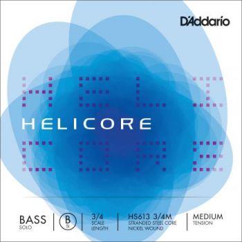D´addario HS613 Cuerda Suelta Contrabajo Helicore Solo Si (B) 3/4 Tensión Media