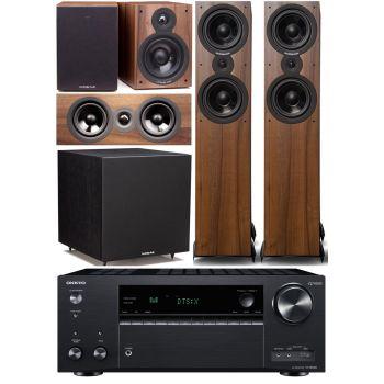 ONKYO TX-NR686 Negro+Cambridge Audio SX-80 Walnut  5.1 Cinema Pack