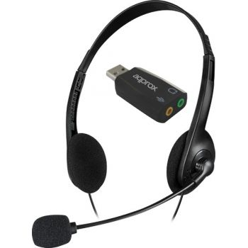 SpeedLink Accordo Auriculares PC con Micro Teletrabajo + Adaptador USB