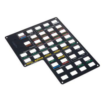 Icon Qcon Pro X Panel Logic Pro Panel de Control Etiquetado