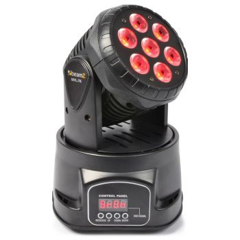BEAMZ MHL-74 Mini Cabeza Movil Wash 7X 10W DMX 12 CH Quad Led 150518