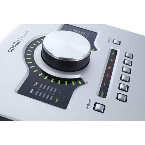 universal audio apollo twin solo volumen