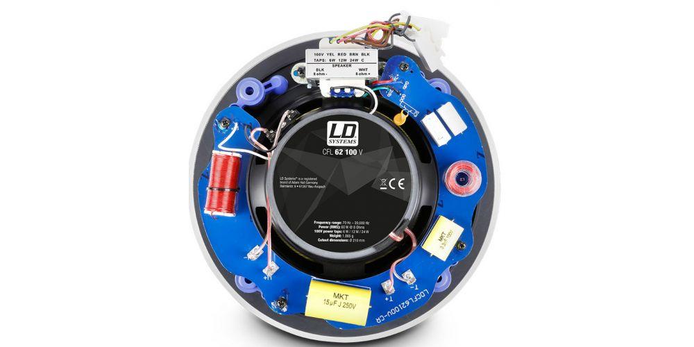trasera altavoz CFL62 100V