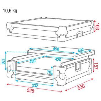 dap audio universal case 2ch dj controll d7467 picture