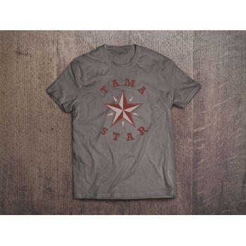 Tama T-Shirt TAMA Star Gris Talla M
