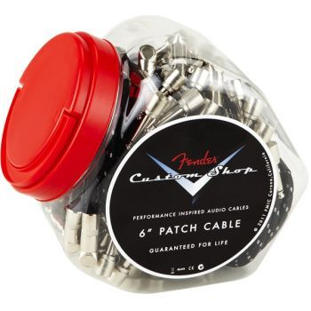 Fender Custom Shop tarro de 20 cables patch de 15cm Negro