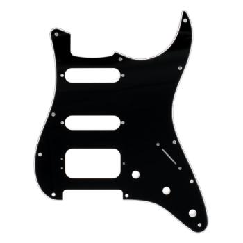 Fender Golpeador Stratocaster H/S/S 11 Agujeros de montaje negro