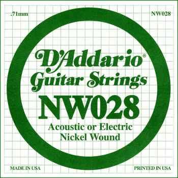 D´addario NW028 Cuerda Suelta para Guitarra Eléctrica