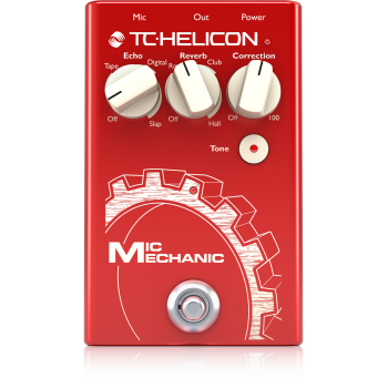 TC helicon Mic Mechanic 2 Pedal de Efectos para Voz - ( REACONDICIONADO )