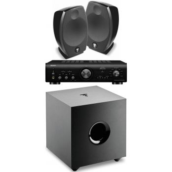 Denon PMA-800NE Black+Focal Sib Evo+Cub Evo  Subwoofer Conjunto Audio