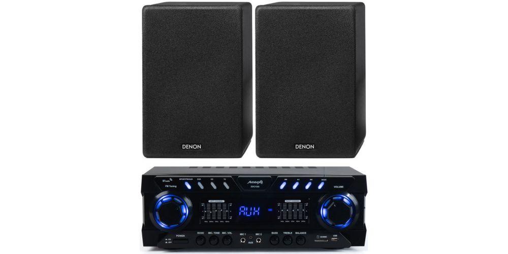 audibax zero 1000 amplificador hifi denon scn10 black