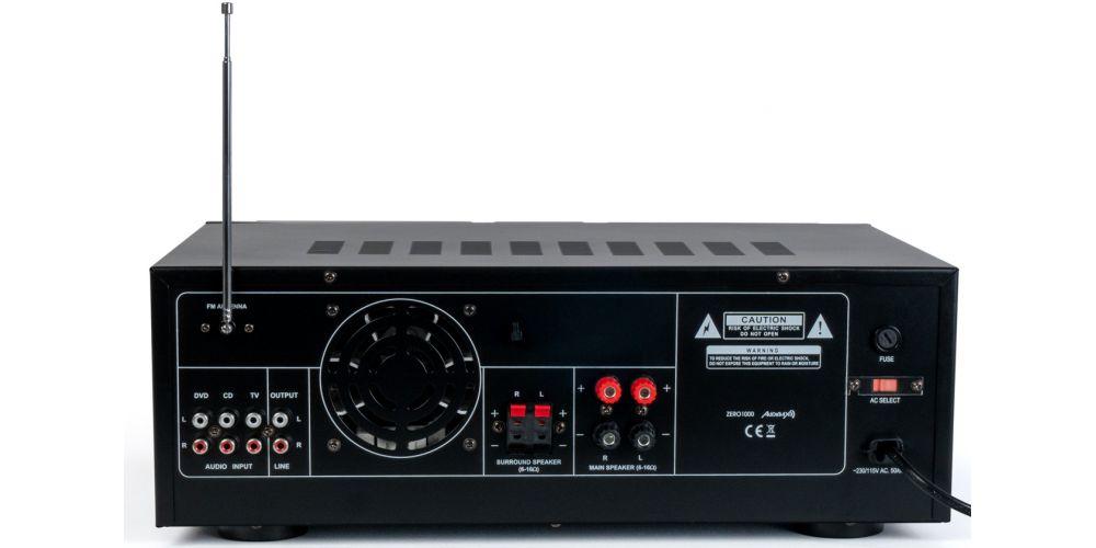 audibax zero1000 amplificador hifi con entrada micros