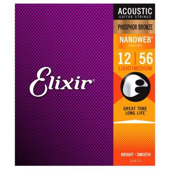 Elixir Phosphor Nanoweb 16077 Light Medium 12-56