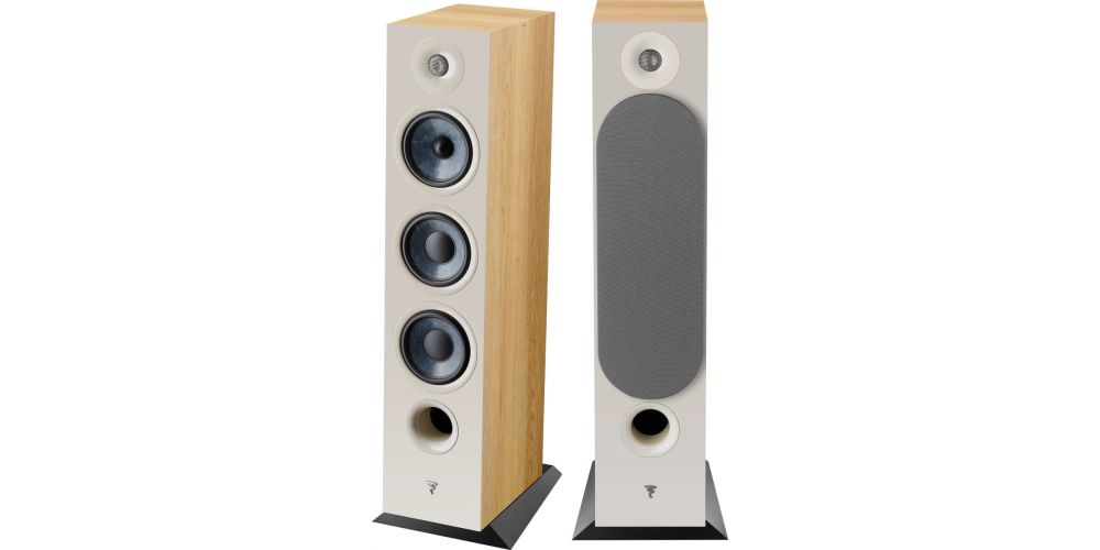 focal chora 826 walnut light  altavoces de suelo pareja medios graves tweeter tres vias