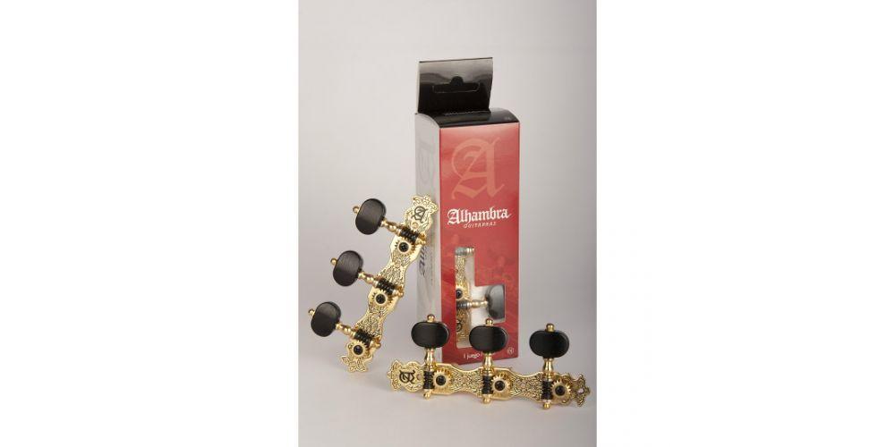 alhambra guitarras clavijero n3 dorado luxe