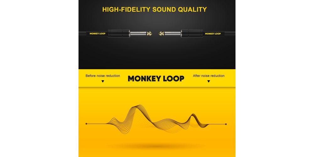 monkey loop standard cable jack mono jack mono noise reduction