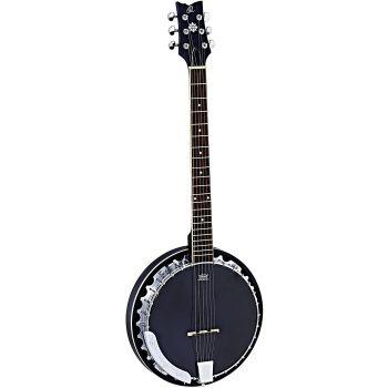 Ortega OBJE350/6-SBK Banjo Electrificado