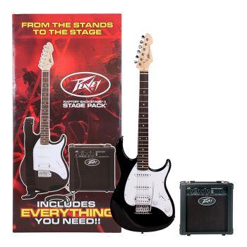Peavey Raptor Plus Stage Pack Black Guitarra Eléctrica Pack Completo