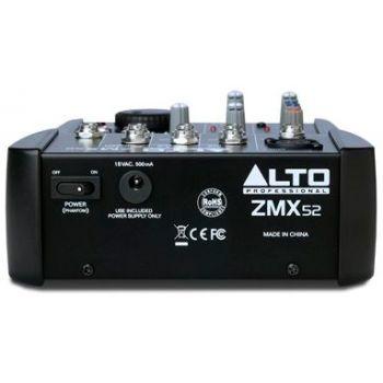 ALTO PROFESIONAL ZMX-52 mezclador para directo 5 canales