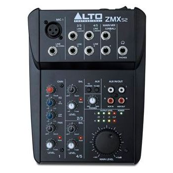 ALTO ZMX-52 Mezclador 5 canales
