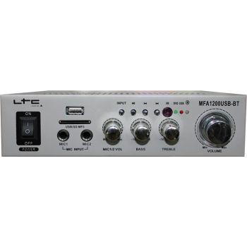LTC MFA1200USB BT Siver Amplificador Karaoke Bluetooth 2 x 50W