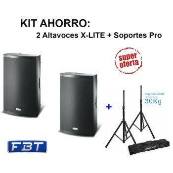 FBT X-LITE 12A Pareja Altavoz Activo 1000 W + Soportes