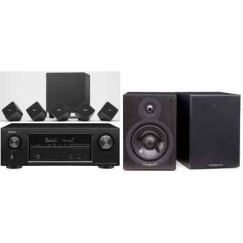 DENON AVR-X1300-SYS2020-SX-50BK Conjunto Home Cinema 7.1