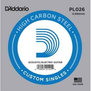D´addario PL026 Cuerda Suelta para Guitarra Eléctrica y Acústica
