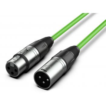 Audibax Silver Cable XLR Macho - XLR Hembra 15 Metros Verde