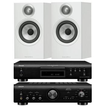 Denon PMA800 AE Black+DCD800Black+B&W 607 White Conjunto Sonido