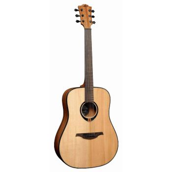 LAG TL80D Guitarra Acústica para Zurdos DREADNOUGHT SOLID SPRUCE