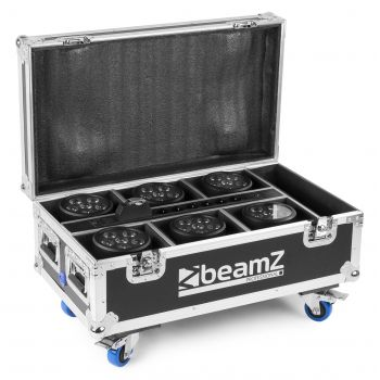 Beamz Fcc66 Flightcase Para 6x Bbp66 Focos Con Cargador 150595
