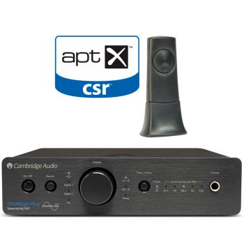 Cambridge Audio DACMAGIC Plus Black+ BT100 receptor de audio Bluetooth