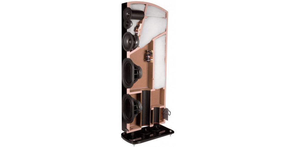 polk audio lsim707 altavoces suelo alta gama conexiones construccion