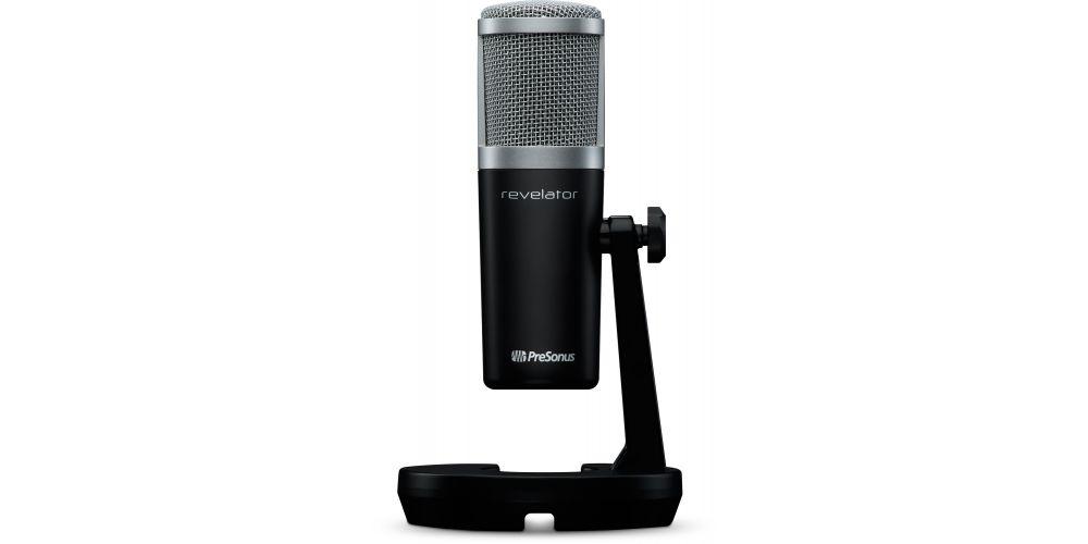 presonus revelator microfono usb c podcasting tripode mesa
