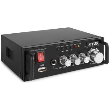 max AV340 Amplificador Karaoke con Reproductor Multimedia 103118