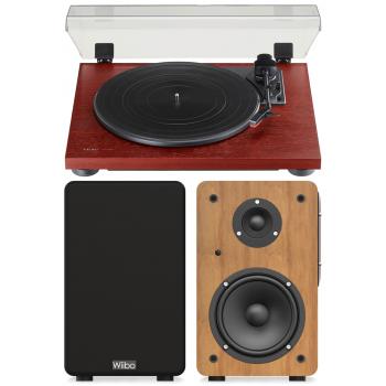 Equipo HiFi TEAC TN-180 BT Wood Giradiscos Bluetooth + Wiibo NEO 100 Altavoces Activos Bluetooth